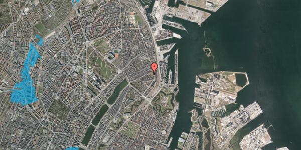 Oversvømmelsesrisiko fra vandløb på Arendalsgade 6B, 2100 København Ø