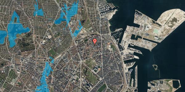 Oversvømmelsesrisiko fra vandløb på Drejøgade 38, 2. th, 2100 København Ø