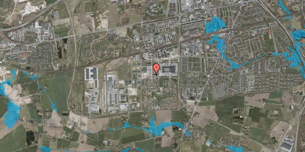 Oversvømmelsesrisiko fra vandløb på Oldenburg Alle 5, 2630 Taastrup