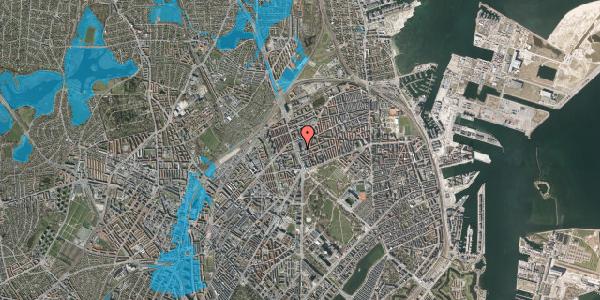 Oversvømmelsesrisiko fra vandløb på Lyngbyvej 22, st. , 2100 København Ø