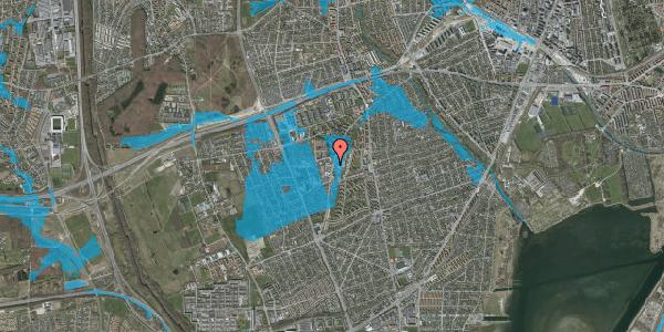 Oversvømmelsesrisiko fra vandløb på Arnold Nielsens Boulevard 64A, 1. , 2650 Hvidovre