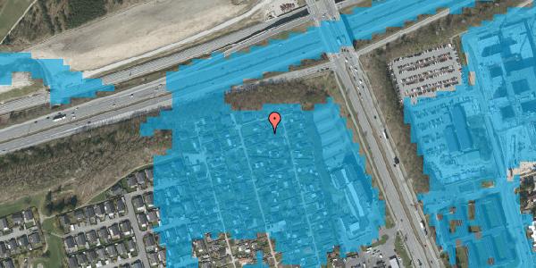 Oversvømmelsesrisiko fra vandløb på Hf. Kettehøj 105, 2650 Hvidovre