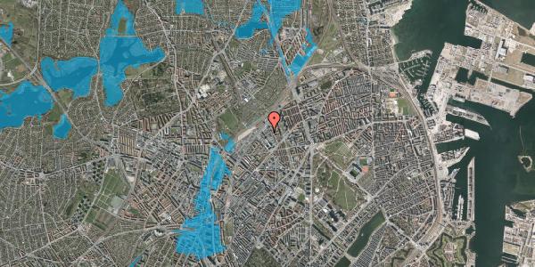Oversvømmelsesrisiko fra vandløb på Emblasgade 99, 2100 København Ø