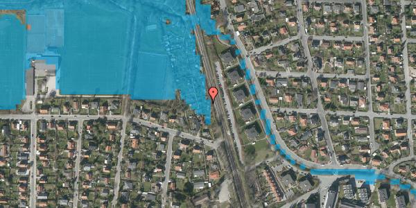 Oversvømmelsesrisiko fra vandløb på Rødhalsgangen 4, 2400 København NV