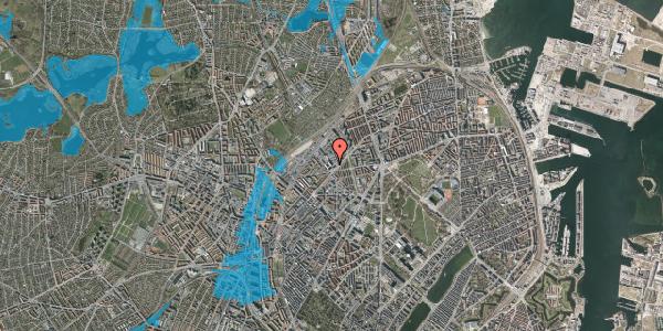 Oversvømmelsesrisiko fra vandløb på Vermundsgade 38E, 4. th, 2100 København Ø
