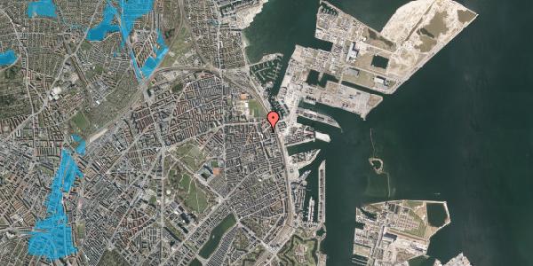 Oversvømmelsesrisiko fra vandløb på Vordingborggade 88, 2100 København Ø