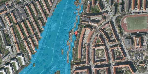 Oversvømmelsesrisiko fra vandløb på Haven 15, 2000 Frederiksberg
