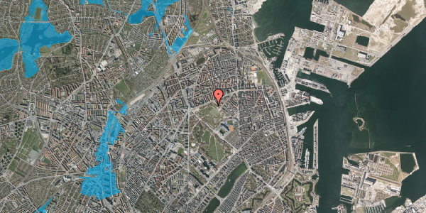 Oversvømmelsesrisiko fra vandløb på Serridslevvej 47, 2100 København Ø