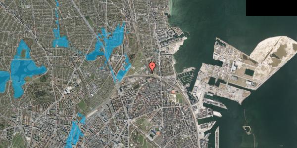 Oversvømmelsesrisiko fra vandløb på Svanemøllens Kaserne 10, 2100 København Ø