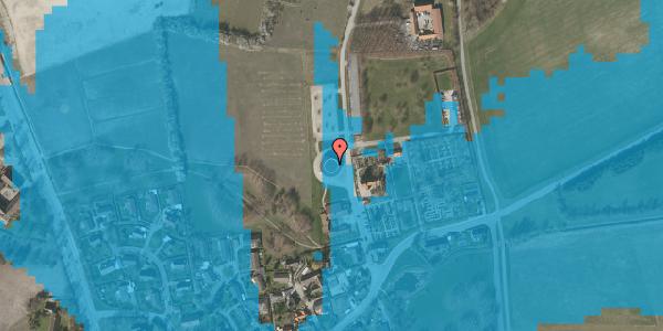 Oversvømmelsesrisiko fra vandløb på Kirkebakke Alle 11, 2625 Vallensbæk