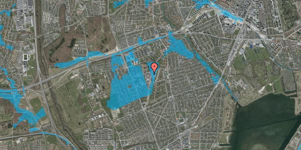 Oversvømmelsesrisiko fra vandløb på Arnold Nielsens Boulevard 62B, 1. , 2650 Hvidovre