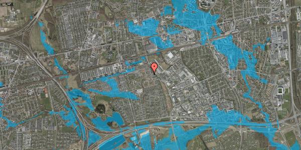 Oversvømmelsesrisiko fra vandløb på Grønkløvervænget 39, 2625 Vallensbæk