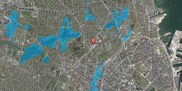 Oversvømmelsesrisiko fra vandløb på Peter Rørdams Vej 6, 1. mf, 2400 København NV