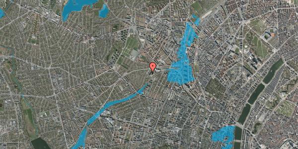 Oversvømmelsesrisiko fra vandløb på Jordbærvej 151, 1. , 2400 København NV