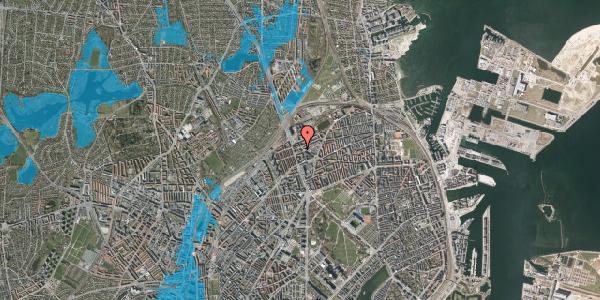 Oversvømmelsesrisiko fra vandløb på Æbeløgade 13, 2. 205, 2100 København Ø