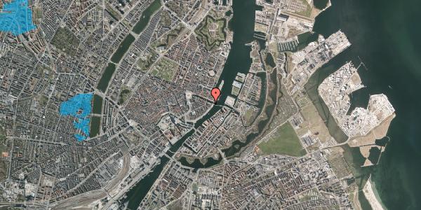 Oversvømmelsesrisiko fra vandløb på Havnegade 53A, 1. th, 1058 København K