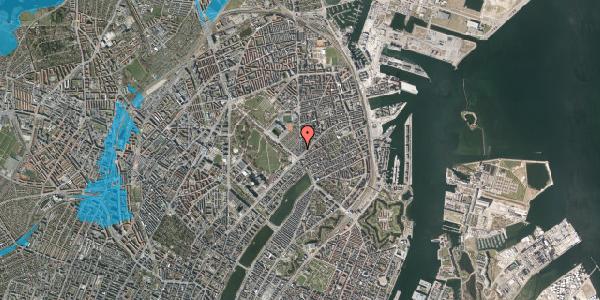 Oversvømmelsesrisiko fra vandløb på Østerbrogade 39A, st. , 2100 København Ø