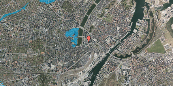 Oversvømmelsesrisiko fra vandløb på Vester Farimagsgade 6, 1. 1038, 1606 København V