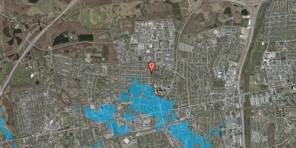 Oversvømmelsesrisiko fra vandløb på Haveforeningen Hersted 55, 2600 Glostrup