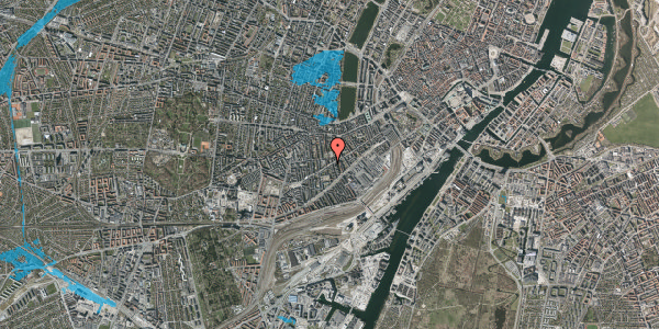 Oversvømmelsesrisiko fra vandløb på Istedgade 86, 1. tv, 1650 København V