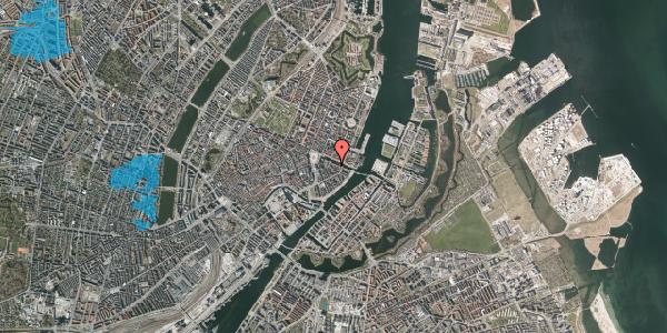 Oversvømmelsesrisiko fra vandløb på Nyhavn 12A, 1. th, 1051 København K
