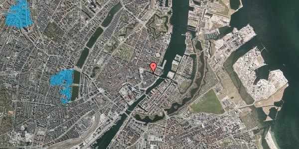 Oversvømmelsesrisiko fra vandløb på Nyhavn 12D, 1. mf, 1051 København K