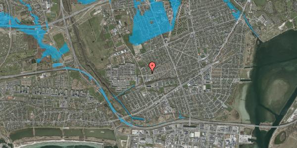 Oversvømmelsesrisiko fra vandløb på Mellemvangsvej 18, 2650 Hvidovre