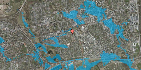 Oversvømmelsesrisiko fra vandløb på Kløvervænget 60, 2625 Vallensbæk