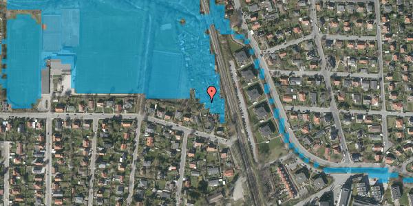 Oversvømmelsesrisiko fra vandløb på Rødhalsgangen 32, 2400 København NV