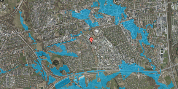 Oversvømmelsesrisiko fra vandløb på Firkløverparken 27, 2625 Vallensbæk