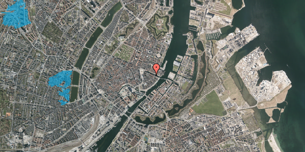 Oversvømmelsesrisiko fra vandløb på Nyhavn 20D, st. , 1051 København K
