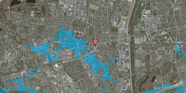 Oversvømmelsesrisiko fra vandløb på Glostrup Shoppingcenter 102, st. 1, 2600 Glostrup