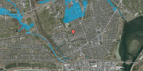 Oversvømmelsesrisiko fra vandløb på Mellemvangsvej 64, 2650 Hvidovre