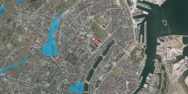 Oversvømmelsesrisiko fra vandløb på Juliane Maries Vej 5, 2100 København Ø