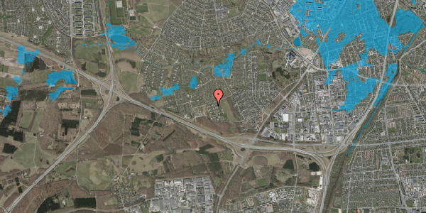 Oversvømmelsesrisiko fra vandløb på Kamillevænget 14, 2600 Glostrup