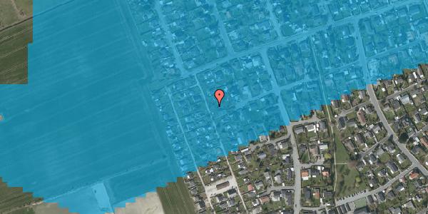 Oversvømmelsesrisiko fra vandløb på Hf. Dahlia 46, 2650 Hvidovre