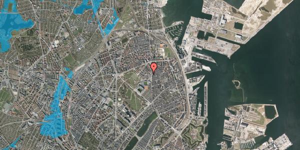 Oversvømmelsesrisiko fra vandløb på Østerfælled Torv 8, 2100 København Ø