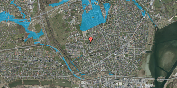 Oversvømmelsesrisiko fra vandløb på Mellemvangsvej 118, st. , 2650 Hvidovre