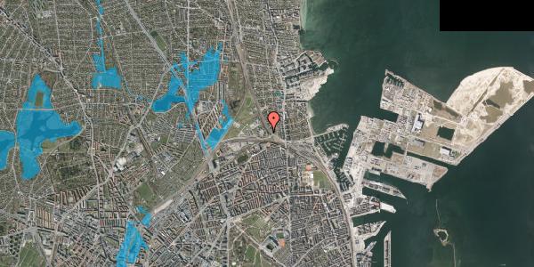 Oversvømmelsesrisiko fra vandløb på Svanemøllens Kaserne 5, 2. 212, 2100 København Ø