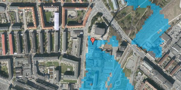 Oversvømmelsesrisiko fra vandløb på Lygten 18A, 1. , 2400 København NV