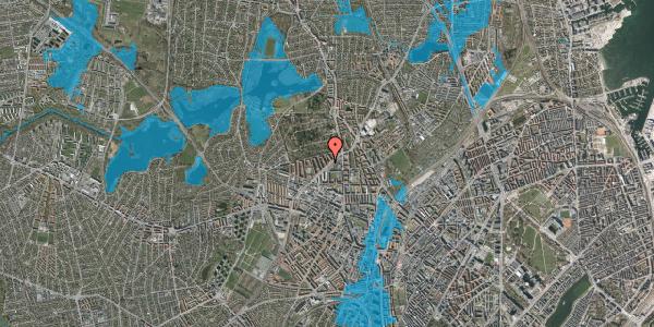 Oversvømmelsesrisiko fra vandløb på Klokkerhøjen 3B, 2400 København NV
