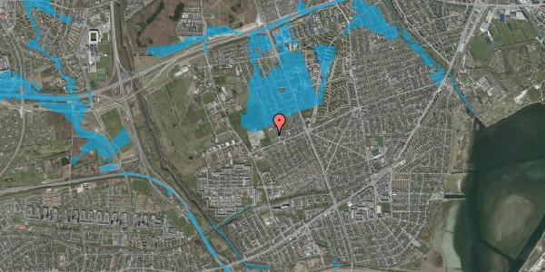 Oversvømmelsesrisiko fra vandløb på Hf. Dahlia 95, 2650 Hvidovre
