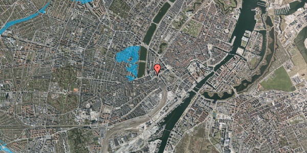 Oversvømmelsesrisiko fra vandløb på Vester Farimagsgade 1, 3. , 1606 København V