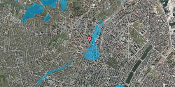 Oversvømmelsesrisiko fra vandløb på Hejrevej 34B, 2400 København NV