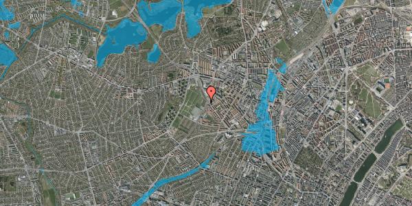 Oversvømmelsesrisiko fra vandløb på Hulgårdsvej 105, 2400 København NV