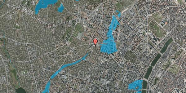 Oversvømmelsesrisiko fra vandløb på Rabarbervej 6, st. 1, 2400 København NV