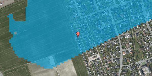 Oversvømmelsesrisiko fra vandløb på Hf. Dahlia 66, 2650 Hvidovre
