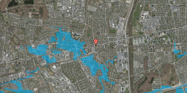 Oversvømmelsesrisiko fra vandløb på Glostrup Shoppingcenter 105, st. , 2600 Glostrup