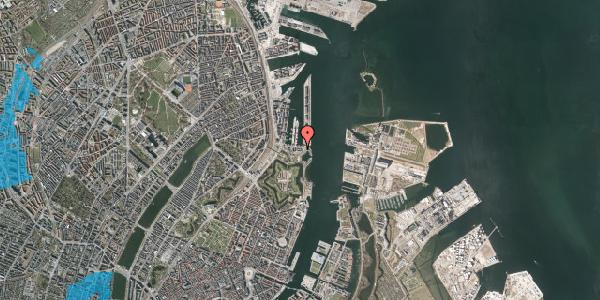 Oversvømmelsesrisiko fra vandløb på Indiakaj 18, 1. th, 2100 København Ø