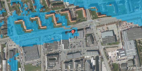 Oversvømmelsesrisiko fra vandløb på Hermods Allé 6C, 2600 Glostrup